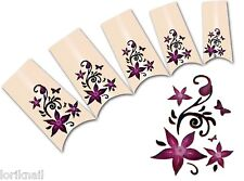 Nail Art Wasser Tattoo Aufkleber für Nageldesign BLE1830 Blumen Ornamente