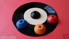 """Plastic 7"""" Single 45 RPM Cone Spindle Turnable Adapter Made In U.S.A. -Brand New"""