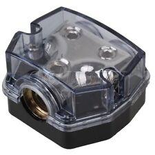 Car 1 in 2 Ways Audio Power Distributor Black Fuse Holder Car Accessories