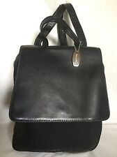 Large TIGNANELLO Black Leather Backpack/Shoulder Bag / Handbag