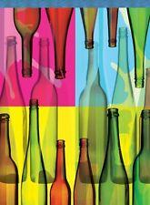 Toland Home Garden Sleeved Garden Flag 12.5x18 Pop Art Bottles Wine Glass