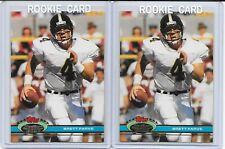 (2) 1991 Topps Stadium Club RC Brett Favre #94 LOT Green Bay Packers HOF CLEAN