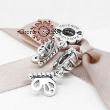 Pandora, S925, Best Friends Forever Butterfly Pendant Charm, NEW, 790531