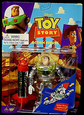 Toy Story Movie Solar Buzz Lightyear Rocket Action Figure Toy Thinkway New 1995