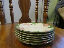 "Set of 6  Franciscan ""Desert Rose""  Bread/Desert Plate 6 1/4"" USA"