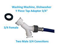 Lavadora y lavavajillas y Pieza Grifo Adaptador 3/4 Divisor de 3 vías