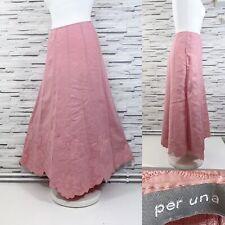 10 14 16 UK Size 8 12 Ladies Per Una Tie Detail Knee Length Skirt in Black