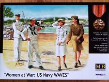 "Masterbox 1:35 ""Women at War: Us Navy Waves"" Figures Model Kit"