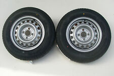 2 X TRAILER WHEEL & TYRE 155/80 R13 4 STUD 100MM PCD 60MM CENTRE BORE  NEW ITEM