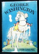 George Washington ~  Parin  D'aulaire ~ 1936 ~ Dust Jacket
