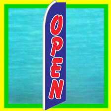 OPEN BANNER FLAG Advertising Sign Feather Swooper Bow