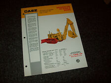 CASE BACKHOES FOR 310 SERIES G DOZERS CONSTRUCTION BROCHURE LITERATURE AD
