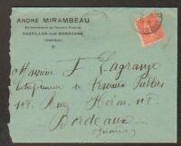 """CASTILLON-sur-DORDOGNE (33) Ets. de TRAVAUX PUBLICS """"André MIRAMBEAU"""" en 1929"""