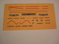 DECALS KIT 1/12 ALAIN JONES F1 WILLIAMS DECAL
