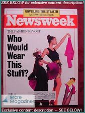 NEWSWEEK December 5 1988 Dec 12/5/88 80's FASHION STEALTH BOMBER +++
