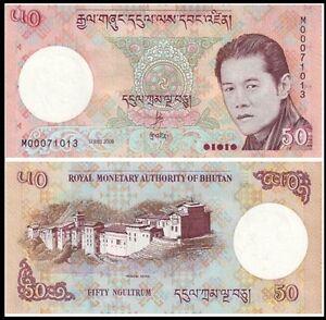 Bhutan 2008 year 50 Ngultrum BrandNew Banknotes