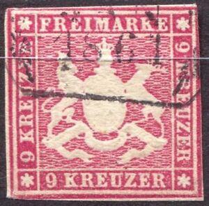 Wuerttemberg 14a gestempelt, Topmarke 100.- #a362