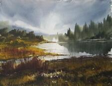 Derwent Water Original Art Watercolour Painting by Steven Cronin