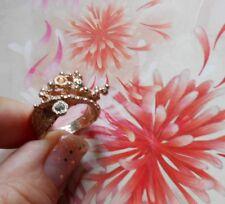 Superbe Bague ancienne Art Nouveau argent or rose citrine tourmaline verte