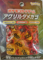 Japanese Pokemon Card game Official Acrylic Damage Counters Ver1 pack  NEW