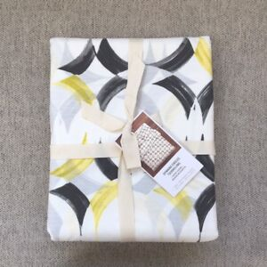 West Elm Spinning Circles Tourbillons Duvet Cover only king White Iron yellow