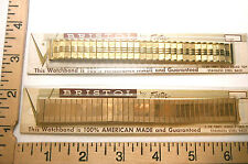 2 Vintage Bristol Watchbands By Foster 1/20 10K Gold Top Stainless Steel Back #4