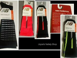 New Balance Running Reflective Compression Socks Unisex Sz M Adult Color Choice