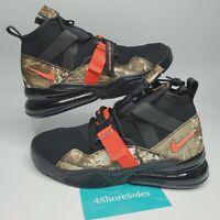 Nike Men's SIZE 12 Air Force 270 Utility Realtree Camo Black Orange BV6071-001