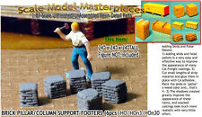Brick Pillar/Column Support Footers-Sm Scale Model Masterpieces Yorke 1;87/HOn3