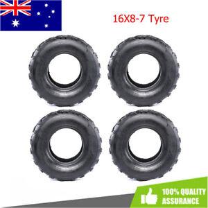 4x 16x8-7 16*8 7INCH Wheel Tire TYRES Rear Front Quad Dirt Bike Trike ATV Buggy
