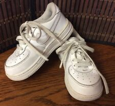 Infant boys shoes Nike Air Force 1 314194-117 toddler size 8C white F19