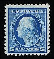 GENUINE SCOTT #504 F-VF MINT OG H 1917 BLUE PERF-11 UNWMK FLAT PLATE #7337