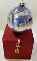 New York Glass Ball Christmas Ornament Twin Towers Statue of Liberty