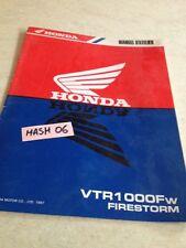 supplément manuel atelier Honda VTR1000FW VTR1000F W VTR 1000 F Firestorm