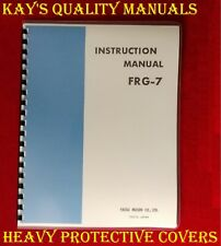 High Quality Yaesu FRG-7 Instruction Manual On 32 LB Paper w/Foldout Schematic!!