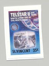 St Vincent #1164 Telestar II, Space, Martin Luther King, Jr 1v Imperf Proof