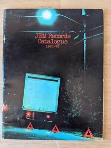 1978-79 JEM Records Catalogue - Music Albums Rock Reggae Etc. Catalog
