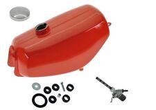 Tank passend für SIMSON S51 S70 Flamm - rot Set Gummis Benzinhahn Tankdeckel