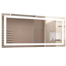 HOMCOM Miroir Lumineux LED Salle de Bain Fonction Antibuée 53 W 120 x 60 cm