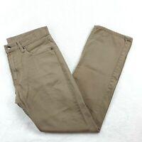 UNIQLO Mens Size 32 x 31 Straight Leg Beige Jeans Mid Rise 100% Cotton