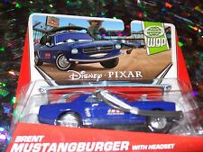 "DISNEY PIXAR CARS ""BRENT MUSTANGBURGER w/SET"" Die-Cast Metal, Scale 1:55, NEWl"