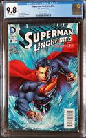 Superman Unchained (2013 DC) #8 Reis Prado Variant CGC 9.8 1:50