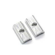 2 x Magnetic Hinge Clamp Plates For BROMPTON Clamp Levers Union Jack in SILVER