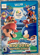 Mario & Sonic at the Rio 2016 Olympic Games (Nintendo Wii U, 2016) Rare Complete