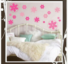 60 Flower Dots Wall Decal Colors: Pink, Purple, Blue, Green, Yellow or White