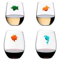 12pcs/set Silicone Marine Animals Wine Glass Marker Drinking Cup Identifier3 ih