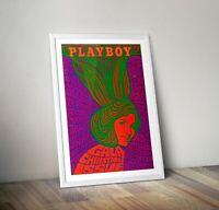 Vintage Playboy Print, Psychedelic Art Print, Playboy Cover Art Print, Wall Art