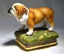 HD HALCYON DAYS BULLDOG DOG TRINKET BOX
