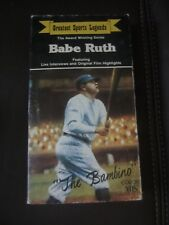 Babe Ruth Greatest Sports Legends Color Vhs Collector Series The Bambino Yankees