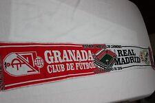 BUFANDA DE FUTBOL PARTIDO DE LIGA ENTRE GRANADA C.F. Y REAL MADRID   SCARF